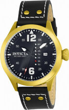 Invicta I-Force 22184 Men's Round Black Analog Day Date Leather Watch
