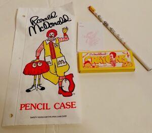 Vintage McDonald's Happy Meal School Pencil Bag