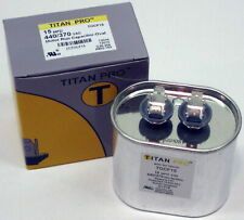 TitanPro Tocf15 Hvac Motor Run Oval Capacitor. 15 Mfd/Uf 440/370 Volts