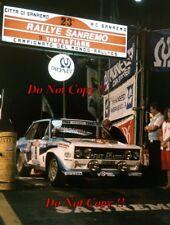 Attilio Bettega FIAT 131 Abarth Rally San Remo 1981 fotografia 1
