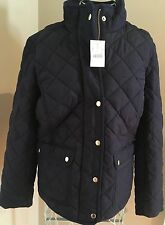 NWT J Crew Women's M Quilted Jacket Navy $158 #E2004