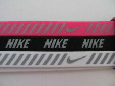 Nike Imprimé Métallique Serre-Têtes 3 Paquet Ruée Rose / Noir/Blanc