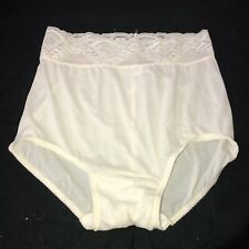 Vintage Bali Studio Size 6 Second Skin Satin Hi Cut Ivory Panties sissy