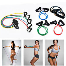 Resistance Band Yoga Tension Rope Tube Fitness Stretch Door Loop Gym Exercise