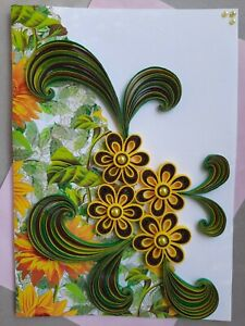Handmade 3D Paper Quilling Greeting Cards Happy Birthday Valentine's Love wishes