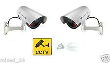 2x Dummy Überwachungskamera LED Fake Alarmanlage Attrappe Videoüberwachung CCTV
