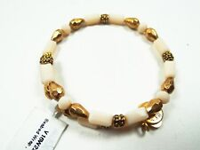 ALEX and ANI Russian Gold Tone Seabed Shore Wrap Bracelet with Charms