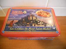 Boite Métal La mère Poulard  Collector Boite à Sucre Les cookies du MT ST Michel