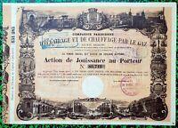 Dépt 75 - Paris - Magnifique Décor Secteur de l'Eclairage par le Gaz  12/03/1870