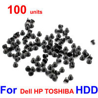 "100pcs/Lot Laptop 2.5"" HDD Hard Drive Caddy Screws for Dell HP IBM TOSHIBA ASUS"