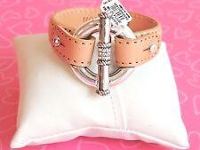 Brighton Bracelet Segovia BEIGE BAR Tan Disc Leather NWT 58.00 S/M