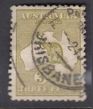 AUSTRALIA :1913 3d olive die I SG 5 used