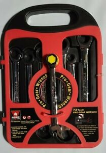 Neiko Fully Polished GearWrench 7 pc Metric Ratcheting Combination Wrench NEW