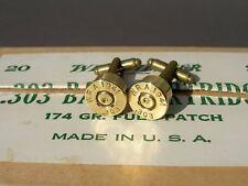 WW2 .303 Cufflinks  1941 W.R.A. Green Label
