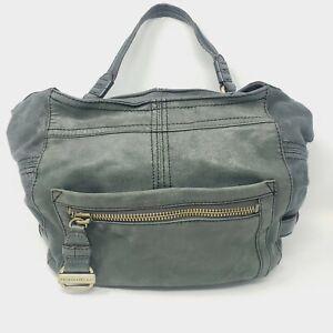 "TIGNANELLO Hunter Green Leather Shoulder Hobo Satchel Purse Bag 11"" x 14"" x 5"""
