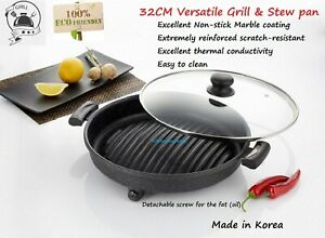 Korean BBQ Grill,plate  Non-Stick Marble Coated Portable Butane Gas stove plate