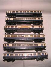 MECCANO / HORNBY AchO 1/87 - 2 rails  -  RAME DE VOITURES RHEINGOLD (6 PIECES)