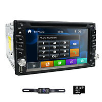Car DVD Player 2DIN In Dash GPS Navigation+Map+Bluetooth+Radio Stereo+Camera+USB