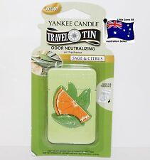 YANKEE CANDLE * Sage & Citrus * Scented Tin AIR FRESHENER * 4 Weeks Fragrance