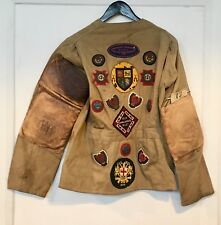 Rare 1930s Small Bore Rifle Association Dewar Match USA Team Jacket & Patches