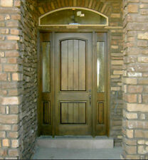 KNOTTY ALDER ENTRY DOOR WITH SIDE LITE TUSCANY DESIGN