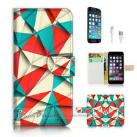 ( For iPhone 7 ) Wallet Case Cover P2167 Abstract