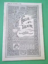 October 9 - 1905 - Hollis St. Theatre Program - Raffles The Amateur Cranksman