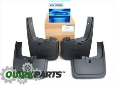2015-2017 Ford F-150 Front Rear Black Molded Splash Guards Mud Flap With Lip OEM