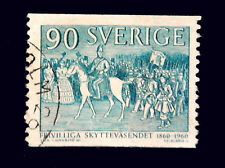 Swedish Stamps / 1960 / 100th. Anniversary of Volunteer Shooters / Used