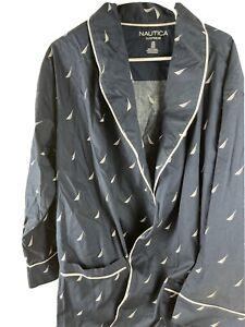 Nautica Men's Long Sleeve Lightweight Cotton Woven Robe New