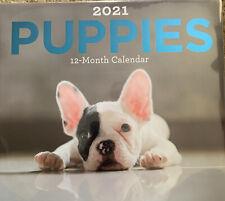 2021 Calendar 11x12 12 Mo Puppies French Bulldog Golden Retriever Doxin Beagle