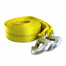 Hfsr 45t 2 X20 Ft Polyester Tow Strap Rope 2 Hooks 9000lb Towing Recovery