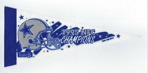 """1995 Dallas Cowboys NFC Champs 9"""" pennant Troy Aikman Emmitt Smith Irvin SB XXX"""