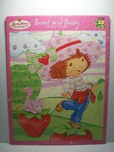 "Strawberry Shortcake ~ Inlaid Puzzle (25pc) ~ 14"" x 11"" ~ ""Sweet And Sassy"""