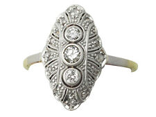 0.52 ct Diamond and 14ct Yellow Gold Dress Ring - Antique Circa 1920 - Size O