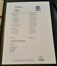 Everton Reserves v Aston Villa Reserves Programme 13/09/11