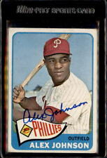 Alex Johnson St Louis Cardinals 1965 Topps #352 Signed Baseball Card DECEASED