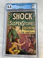 Shock Suspenstories #17 CGC 5.5 Universal EC Comics 1954