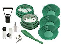 11pc Gold Panning Set for Mining Prospecting Gold Pan Sifter, Tools, Premium Set
