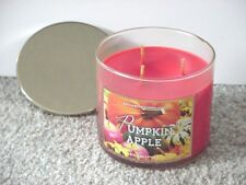BATH & BODY WORKS 3 WICK 14.5 OZ CANDLE ~ PUMPKIN APPLE ~ AUTUMN/FALL