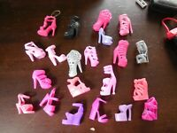 Barbie Doll Single Shoe High Heeled Strappy Sandal Lot Of 19 Genuine