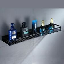 Black Aluminum Cosmetic Shelves Wall Mounted Bathroom Kitchen Storage Organizer