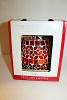 TUSCANY CANDLE FRAGRANCE WAX BAR WARMER Stained Glass Red NEW SEALED 67975