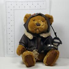 "Pickford Bears Radar Brown Bomber Jacket 8"" Jointed Toy Plush Stuffed Animal Tag"