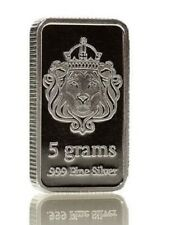 5 gram g Scottsdale Solid Silver Bar Pure .999 Fine Bullion in Sealed Plastic!