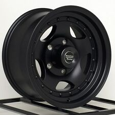 15 Inch Black Wheels Rims Ford F 150 Truck E150 Van Dodge Ram Jeep CJ 5x5.5 Lug