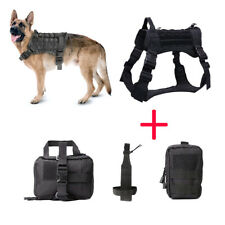 Tactical Molle Service Dog Coat Adjustable K9 Dog Training Harness with Handle