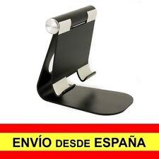 Soporte Mesa Aluminio para Tablet Universal Sobremesa Base Negro a3170