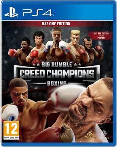 BIG RUMBLE BOXING CREED CHAMPIONS PS4 DAY ONE EDITION VIDEOGIOCO ITALIANO NUOVO
