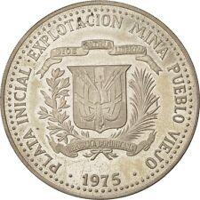 [#492760] Coin, Dominican Republic, 10 Pesos, Taino Art, 1975, MS(63), Silver
